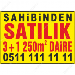 Sahibinden Satılık 3+1 250m2 Daire Afişi