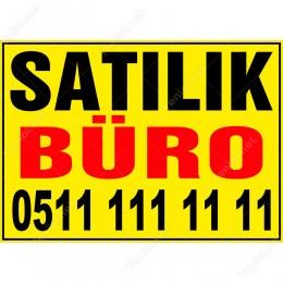 Satılık Büro Branda Afişi