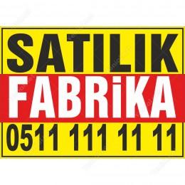Satılık Fabrika Branda Afişi (Sarı Kırmızı Renk)