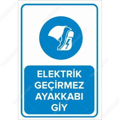 Elektrik Geçirmez Ayakkabı Giy Levhası