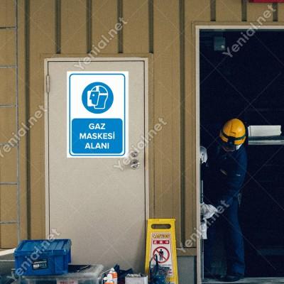 Gaz Maskesi Alanı Levhası