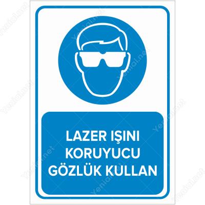 Lazer Işını Koruyucu Gözlük Kullan Levhası