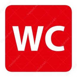Wc Kırmızı Yönlendirme Levhası