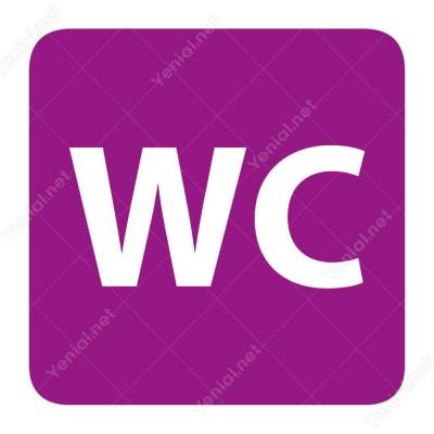 Wc Mor Yönlendirme Levhası