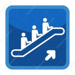 Yürüyen Merdivenden Çıkış Şekilli Yönlendirme Levhası