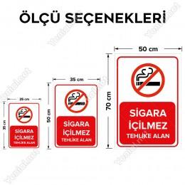 Sigara İçilmez Tehlike Alanı Levhası
