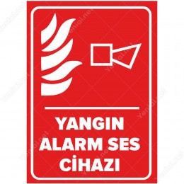Yangın Alarm Ses Cihazı Levhası