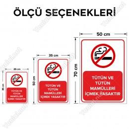 Tütün Ve Tütün Mamülleri İçmek Yasaktır Levhası