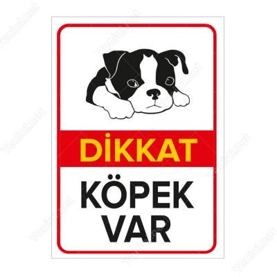 Dikkat Köpek Var Levhası Minik Boston Terrier