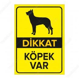 Dikkat Köpek Var Levhası Siyah Alman Kurdu