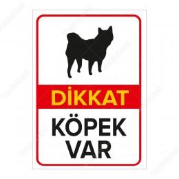 Dikkat Köpek Var Siyah Pug Levhası