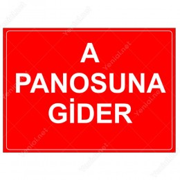 A Panosuna Gider Levhası